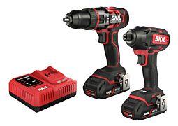 SKIL 3356 EA Κρουστικό δράπανο μπαταρίας «Brushless» και παλμικό κατσαβίδι μπαταρίας «Brushless» (σετ Combo)