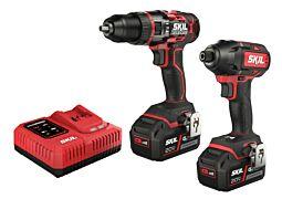 SKIL 3357 EA Κρουστικό δράπανο μπαταρίας «Brushless» και παλμικό κατσαβίδι μπαταρίας «Brushless» (σετ Combo)